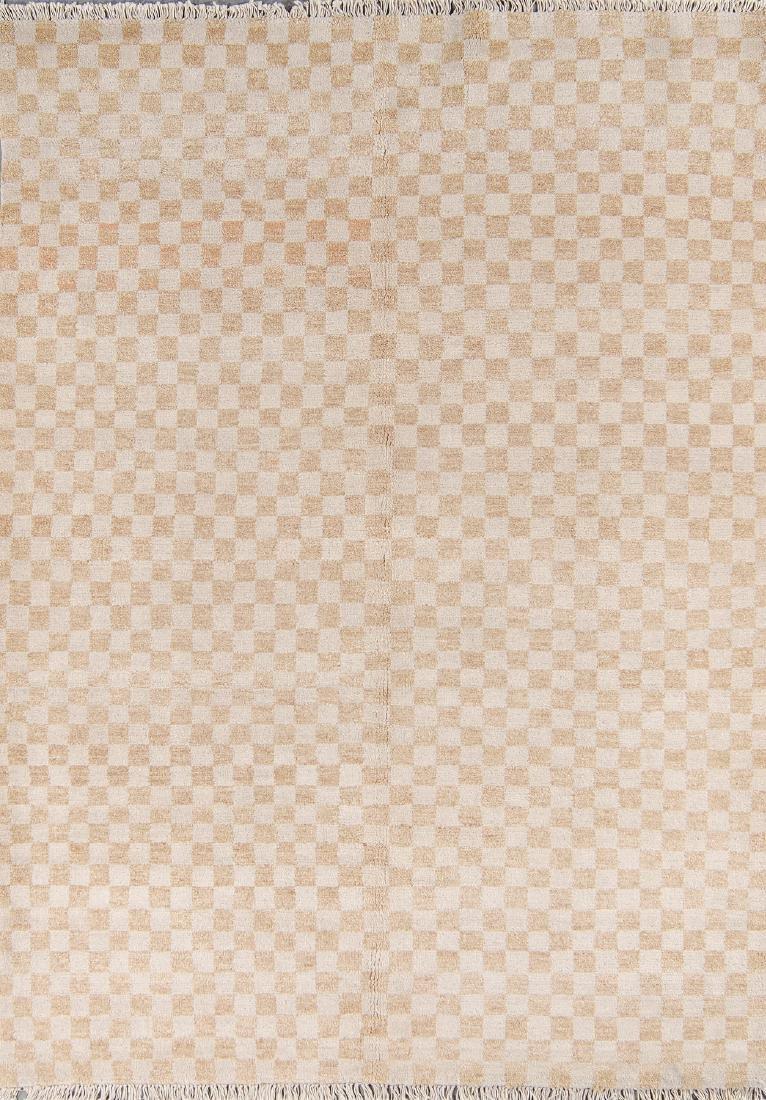 Modern Mid Century Style Natural Dye Rug: 6'1'' x 8'4''