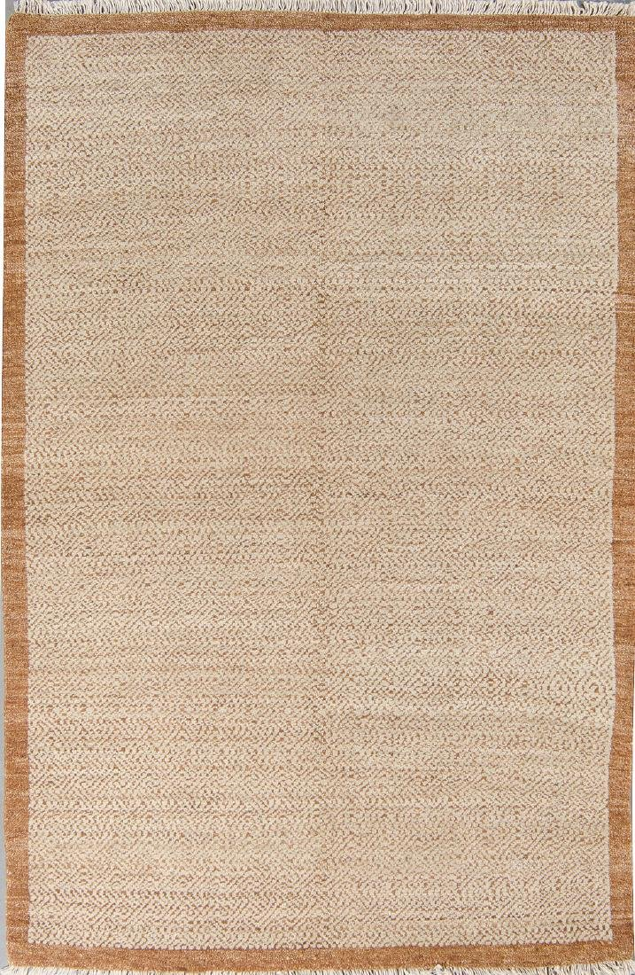 Modern Mid Century Style Natural Dye Rug: 6'1'' x 9'1''