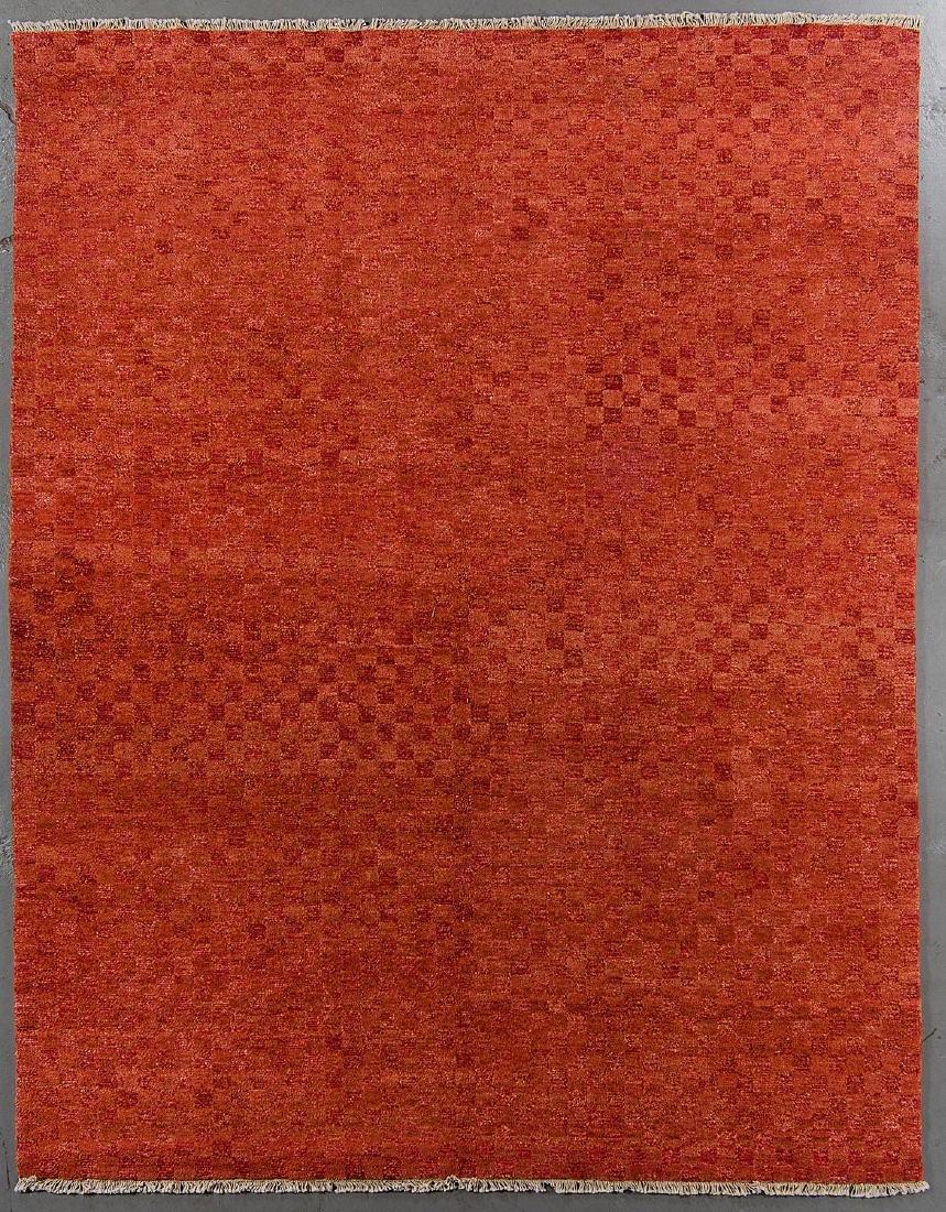Modern Mid Century Style Natural Dye Rug: 7'10'' x