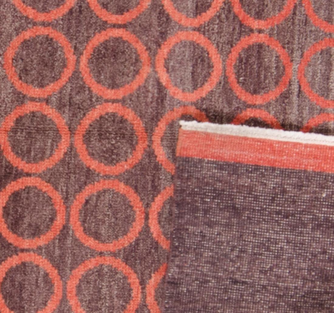 Modern Mid Century Style Natural Dye Rug: 5'10'' x - 2