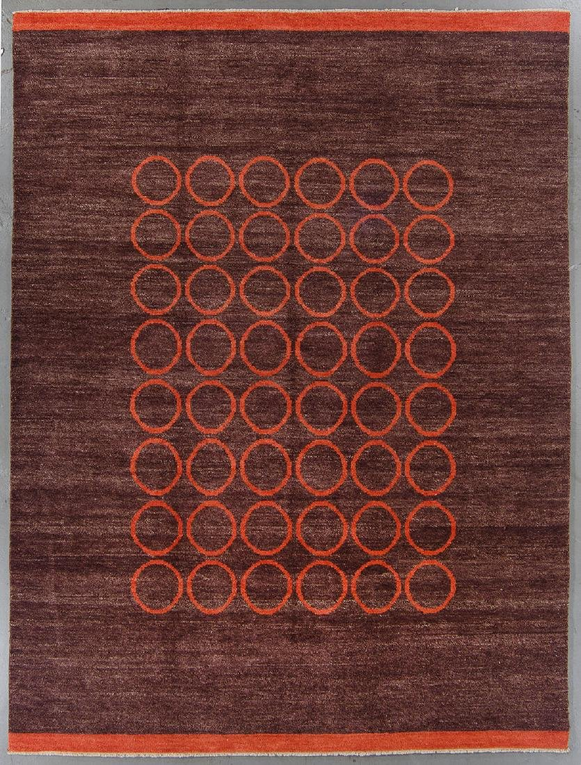 Modern Mid Century Style Natural Dye Rug: 7'10'' x