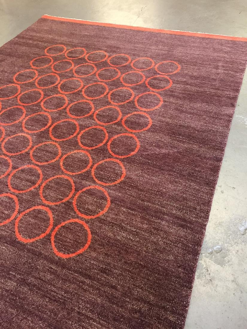 Modern Mid Century Style Natural Dye Rug: 7'10'' x - 2