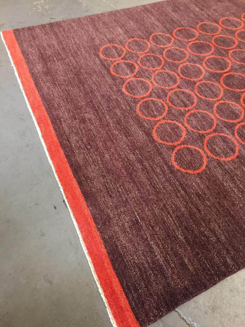 Modern Mid Century Style Natural Dye Rug: 7'10'' x - 3