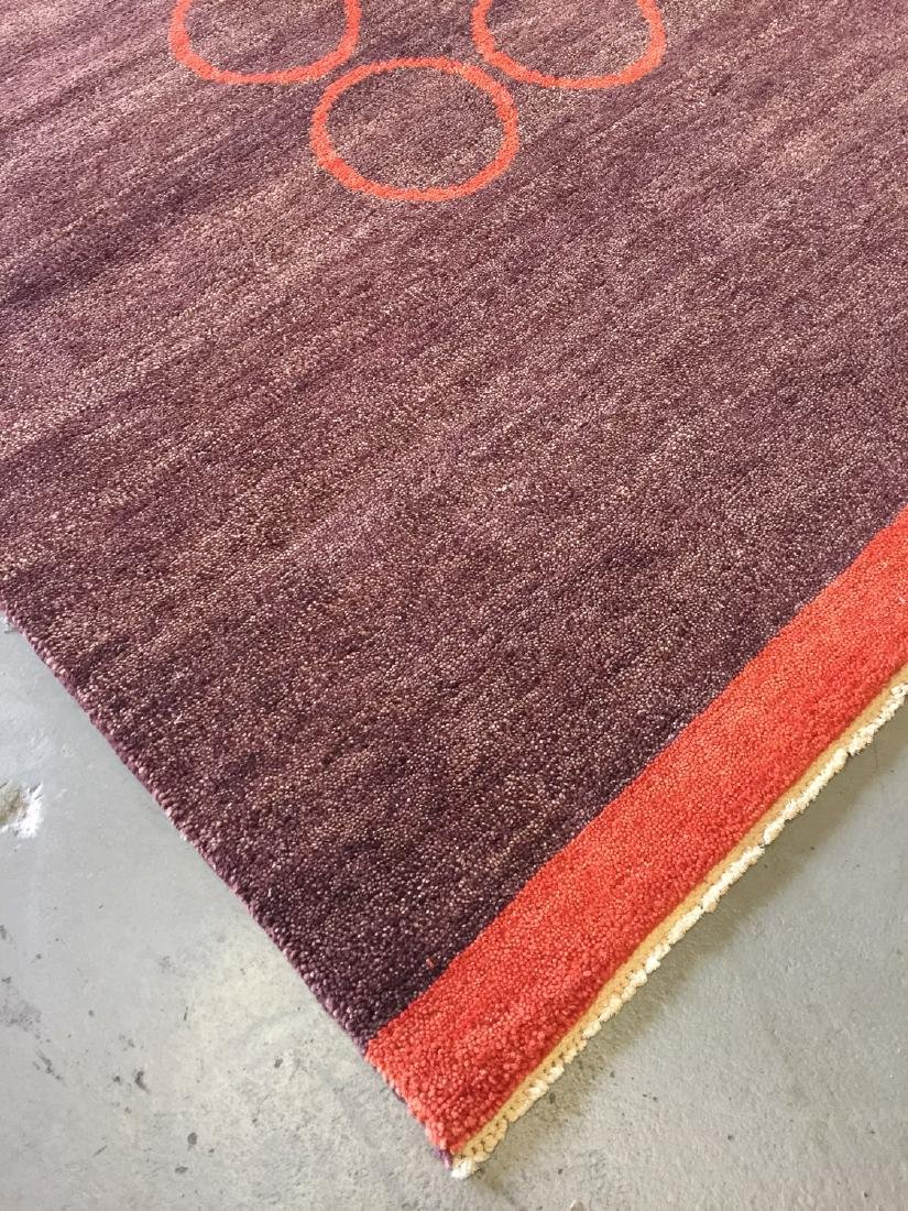 Modern Mid Century Style Natural Dye Rug: 7'10'' x - 4