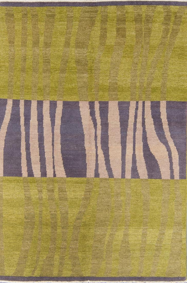 Modern Mid Century Style Natural Dye Rug: 5'11'' x