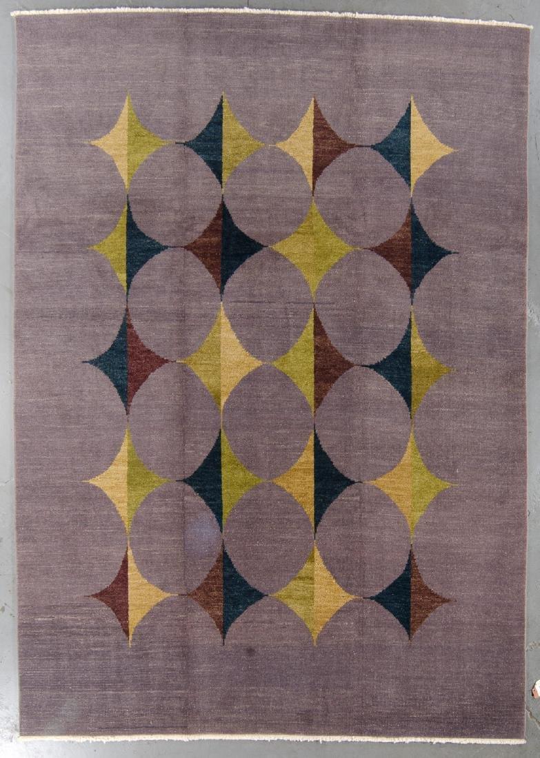 Modern Mid Century Style Natural Dye Rug: 8'2'' x