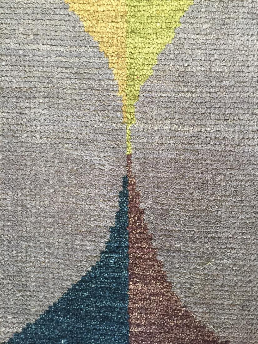 Modern Mid Century Style Natural Dye Rug: 8'2'' x - 5