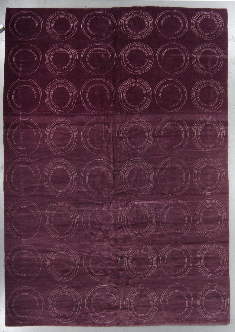 Modern Tibetan Rug: 9'4'' x 13'8''