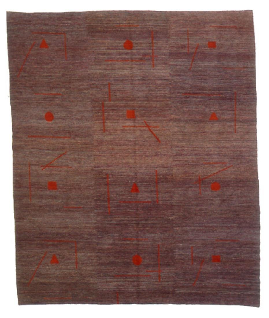 Modern Tibetan Rug: 7'5'' x 9'2''