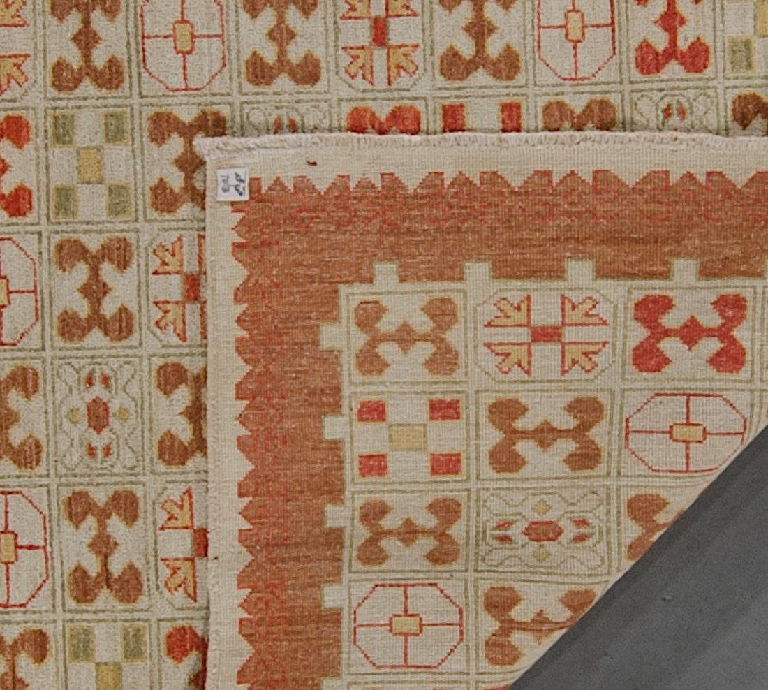 Mid Century Style Afghan Rug: 4'10'' x 3'8'' - 2
