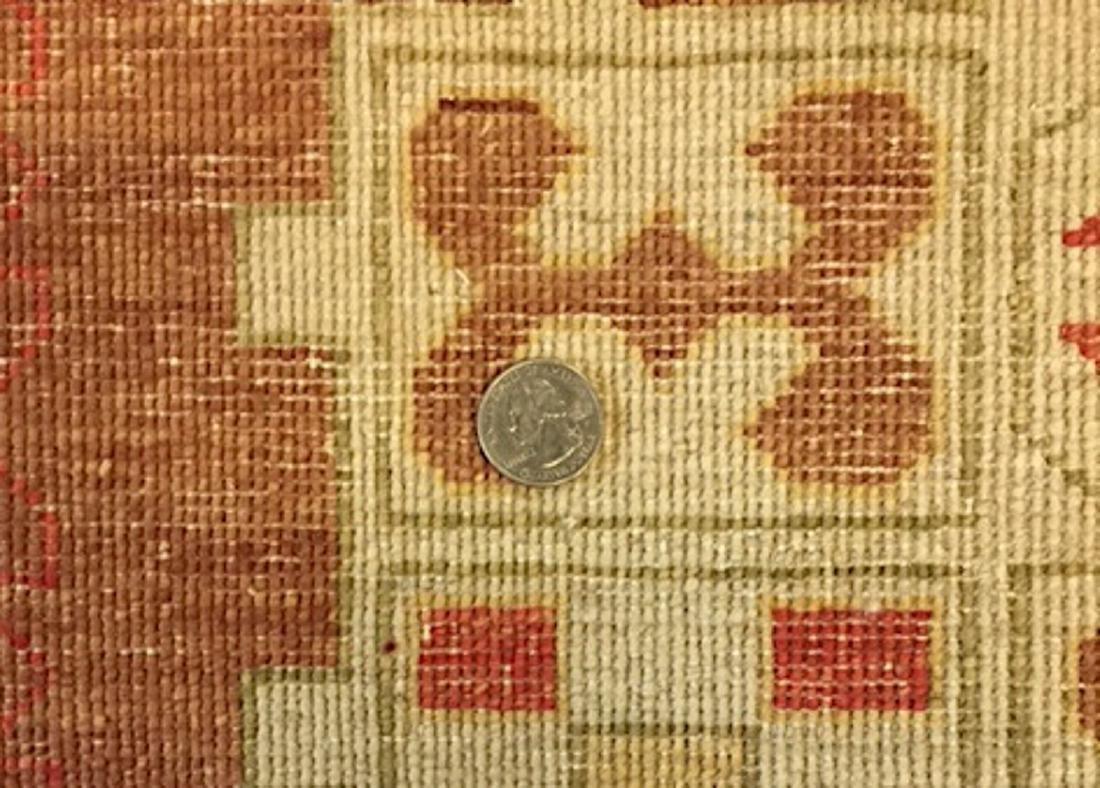 Mid Century Style Afghan Rug: 4'10'' x 3'8'' - 3