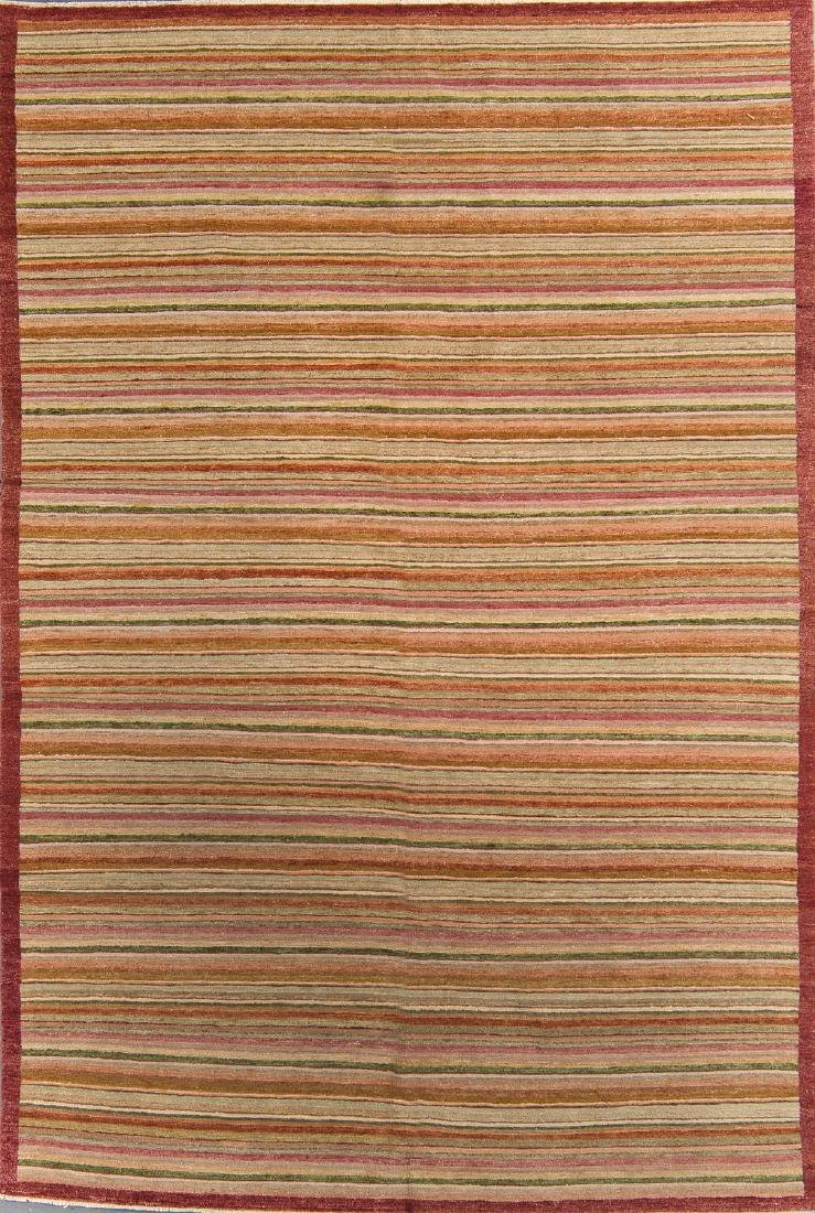Natural Dye Rug with Stripes: 5'11'' x 8'11''
