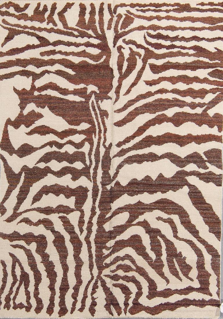 Tiger Stripe Tibetan Rug: 4'11'' x 7'