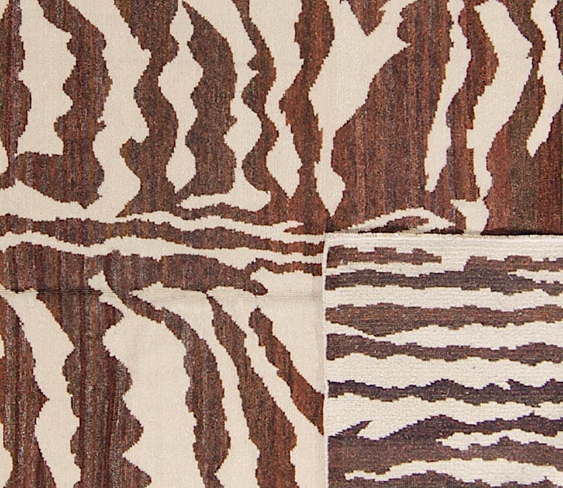 Tiger Stripe Tibetan Rug: 4'11'' x 7' - 2