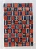 Fine Ashanti Style Kilim: 4'1'' x 5'11''