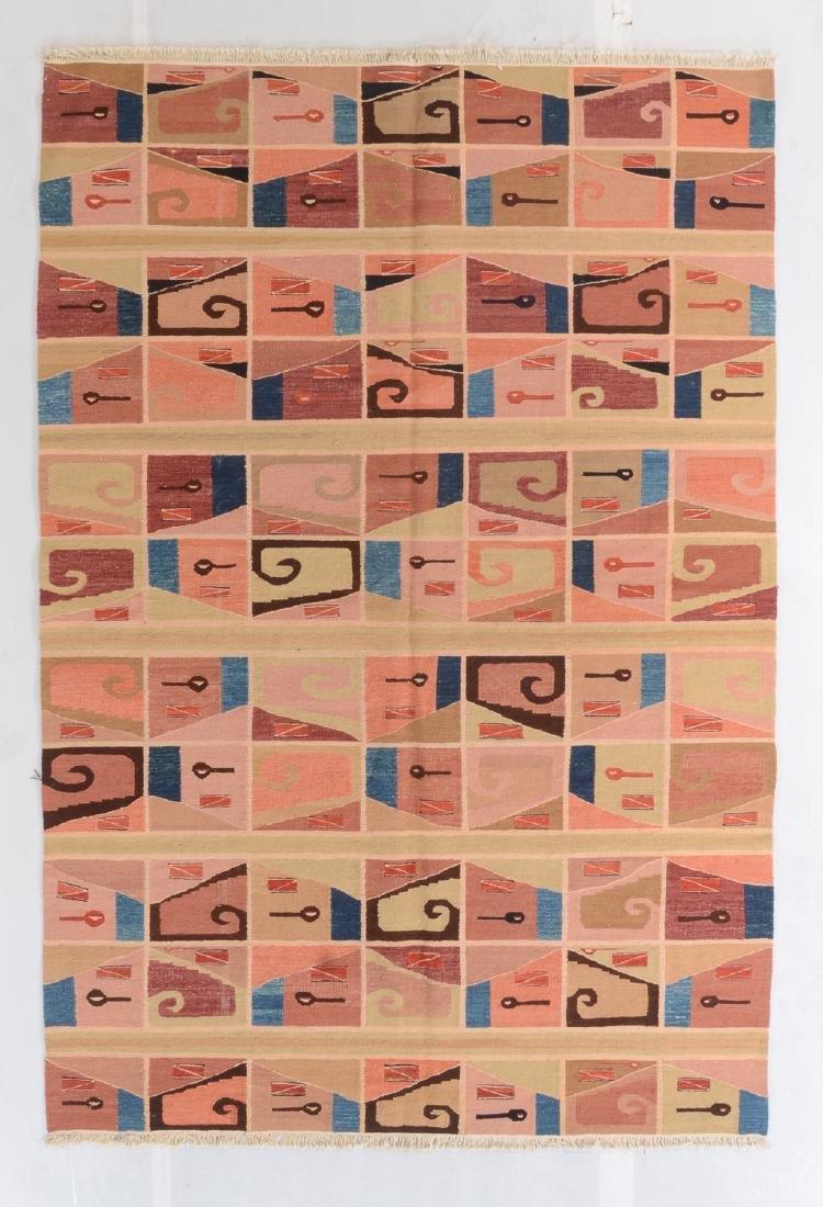 Modern Pre-Columbian Huari Style Kilim: 6' x 8'10''