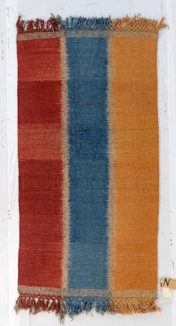 Nambu Natural Dye Ikat Kilim, Nepal: 3'4'' x 6'4''