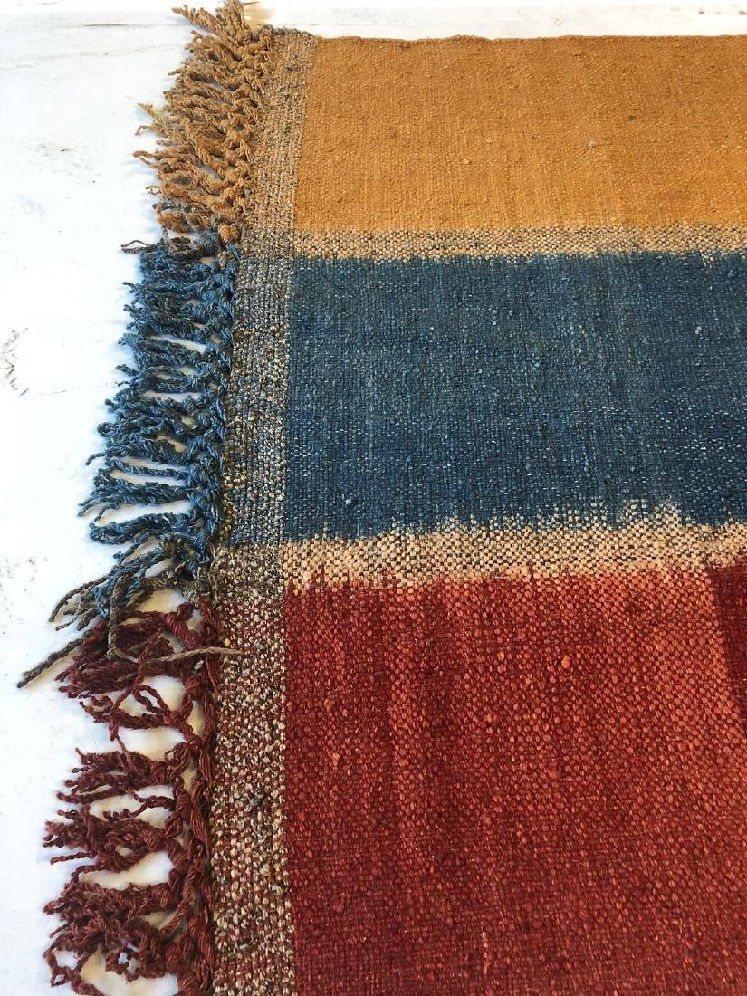 Nambu Natural Dye Ikat Kilim, Nepal: 3'4'' x 6'4'' - 3