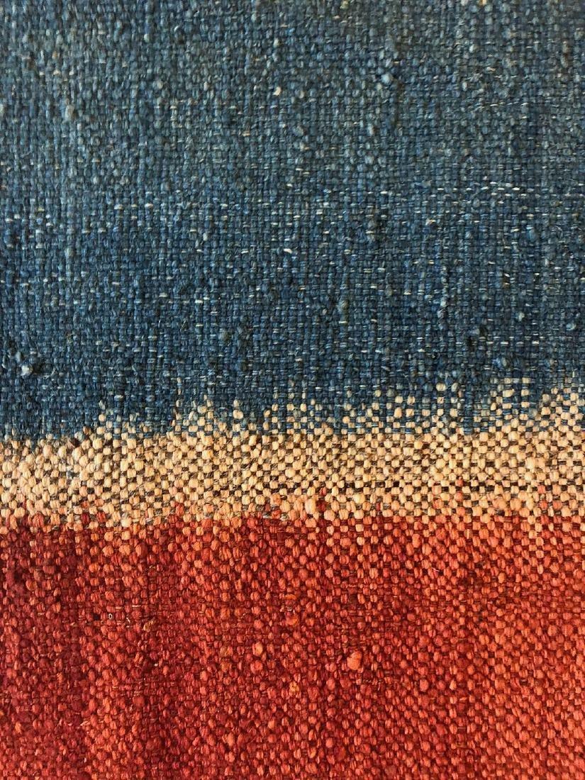 Nambu Natural Dye Ikat Kilim, Nepal: 3'4'' x 6'4'' - 4