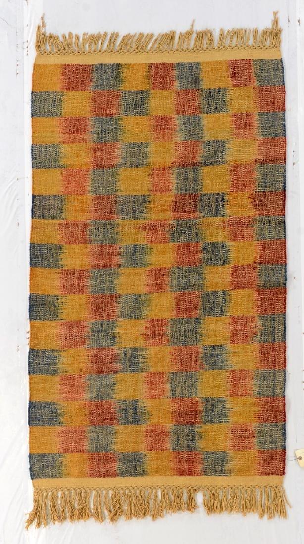 Nambu Natural Dye Ikat Kilim, Nepal: 3'6'' x 6'1''