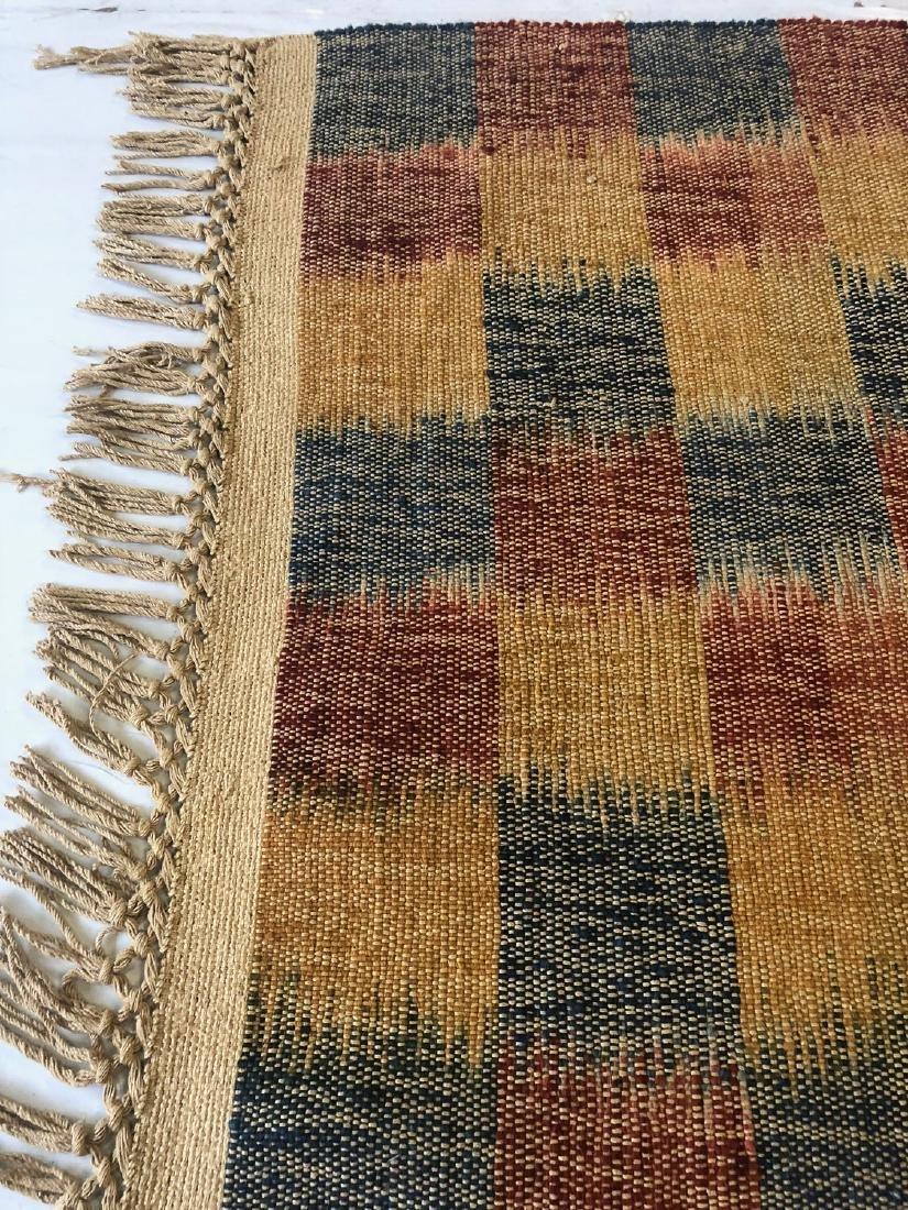 Nambu Natural Dye Ikat Kilim, Nepal: 3'6'' x 6'1'' - 3