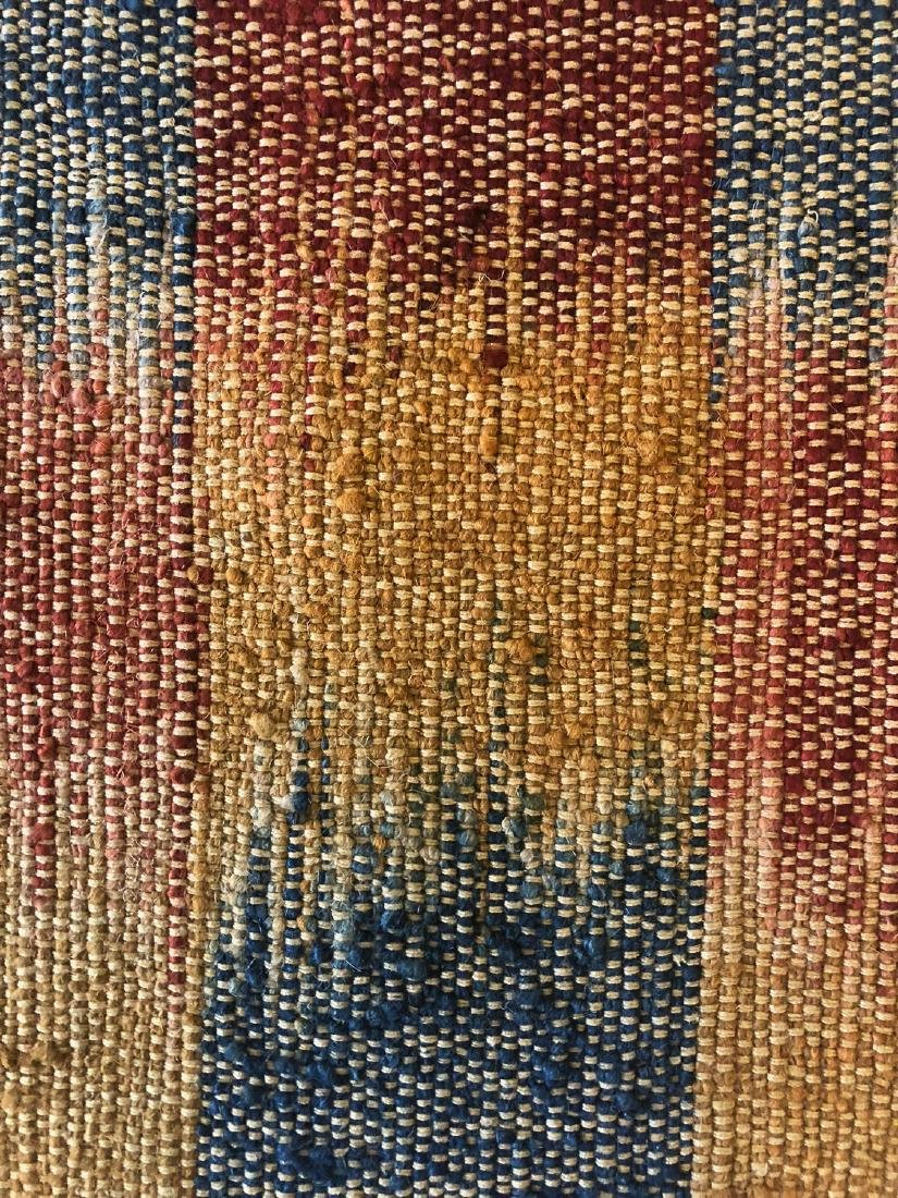Nambu Natural Dye Ikat Kilim, Nepal: 3'6'' x 6'1'' - 4