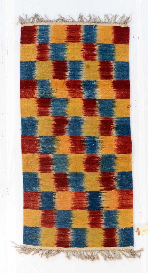 Nambu Natural Dye Ikat Kilim, Nepal: 3'2'' x 6'7''