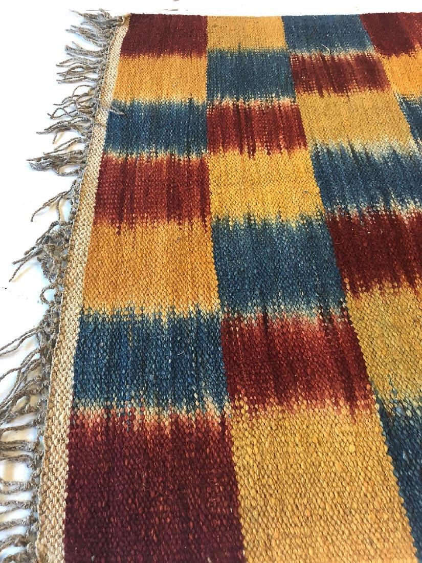 Nambu Natural Dye Ikat Kilim, Nepal: 3'2'' x 6'7'' - 3