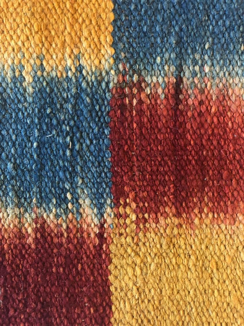Nambu Natural Dye Ikat Kilim, Nepal: 3'2'' x 6'7'' - 4