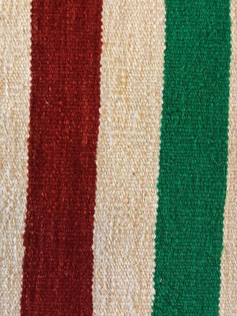 Modern Natural Dye Striped Kilim: 5'10'' x 9' - 2