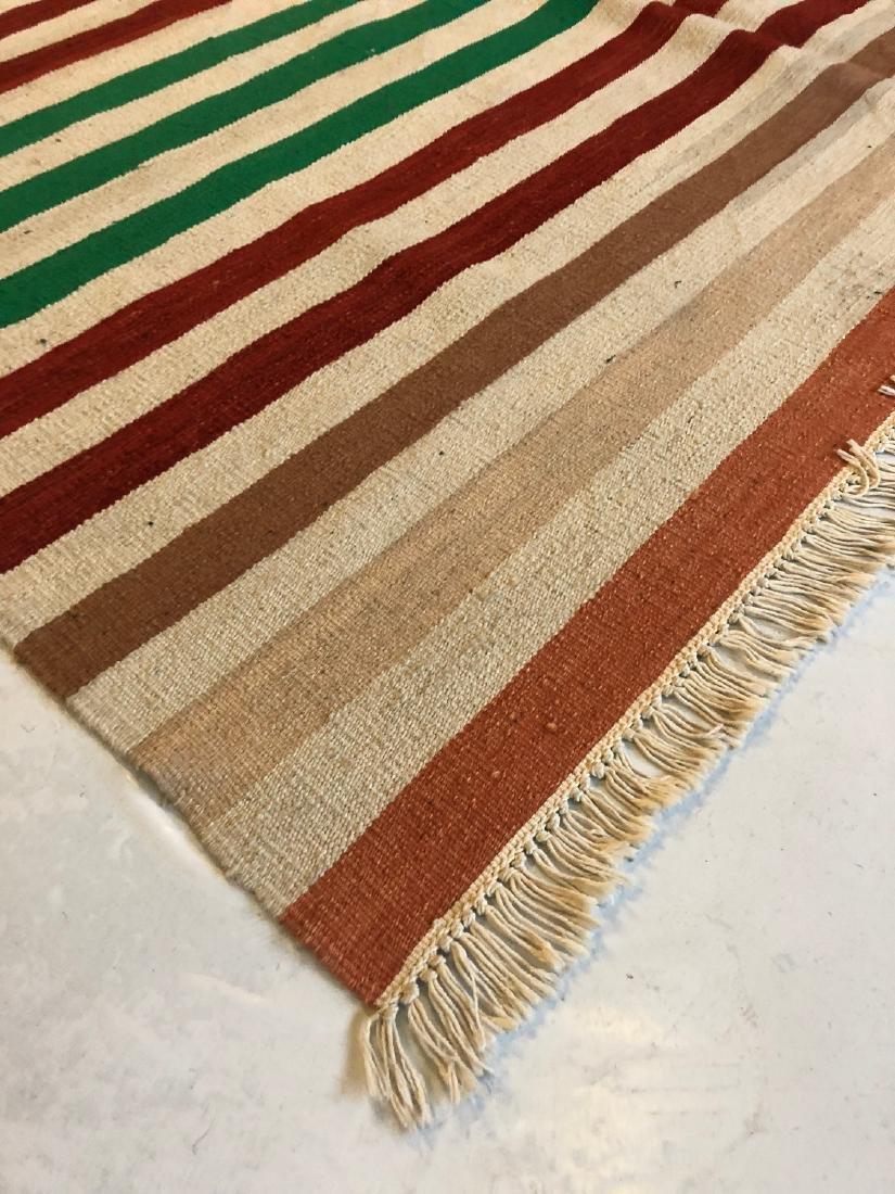 Modern Natural Dye Striped Kilim: 5'10'' x 9' - 3
