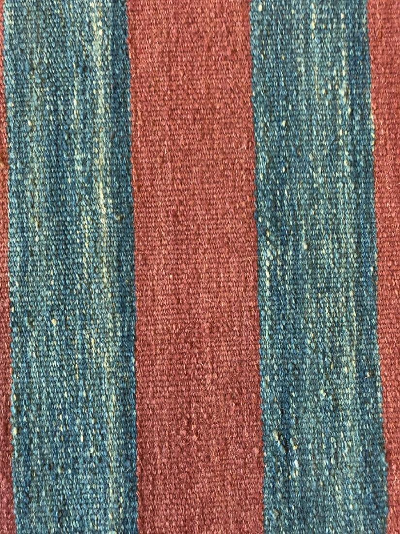 Modern Natural Dye Striped Kilim: 5'10'' x 7'11'' - 2