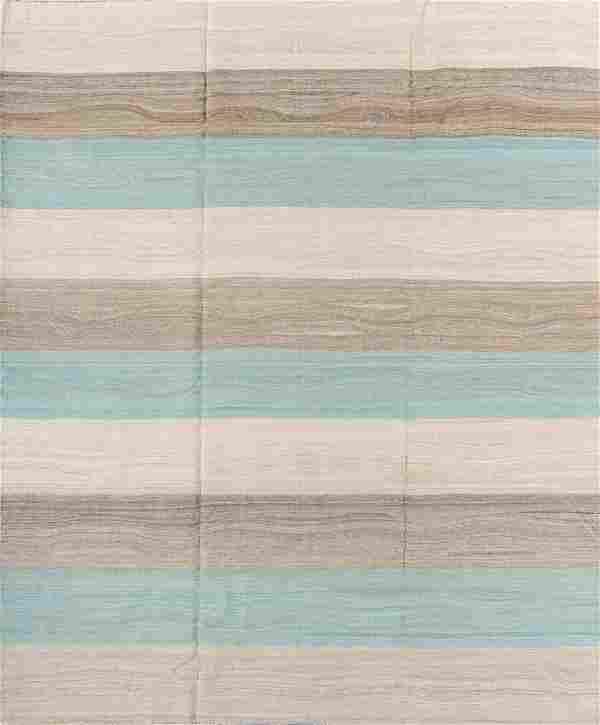 Modern Afghan Natural Dye Kilim: 8'1'' x 10'