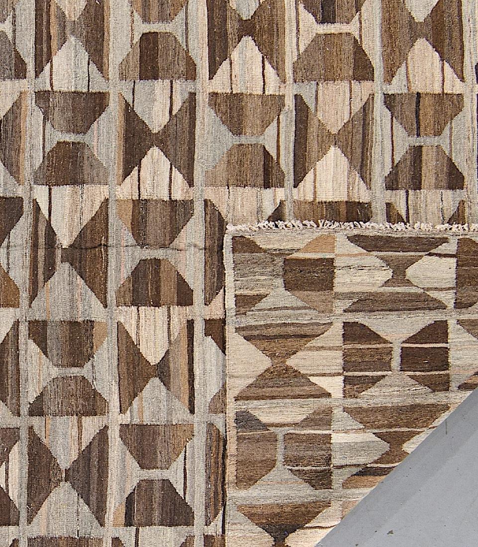 Modern Mid Century Style Kilim: 6'8'' x 9'10'' - 2