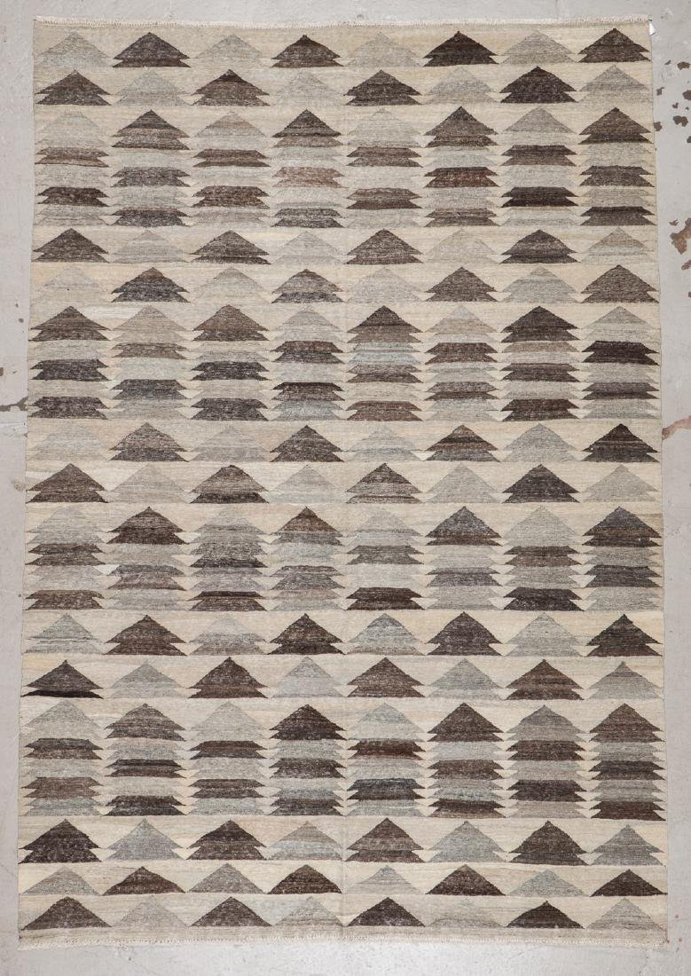 Modern Mid Century Style Kilim: 6'9'' x 9'10'' - 5