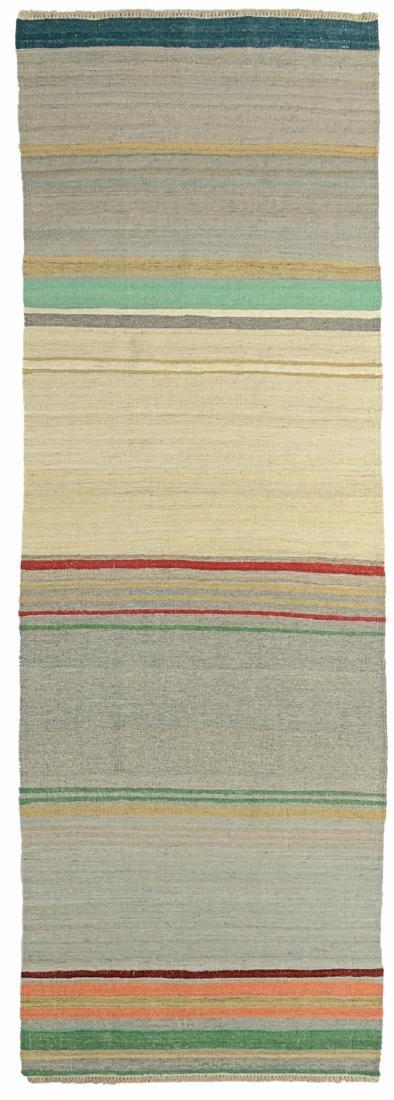 Modern Afghan Natural Dye Kilim: 2'10'' x 8'10''