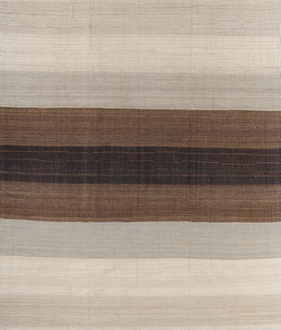 Modern Afghan Natural Dye Kilim: 8'8'' x 10'4''