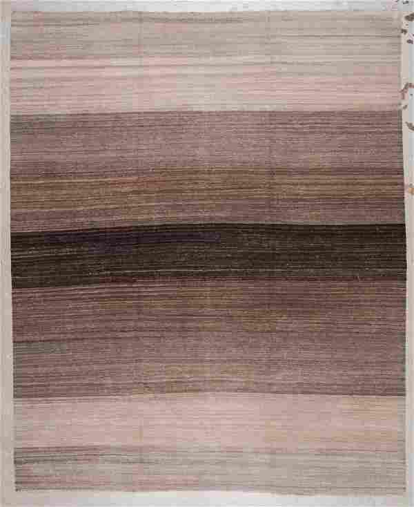 Modern Striped Kilim: 8'2'' x 10'