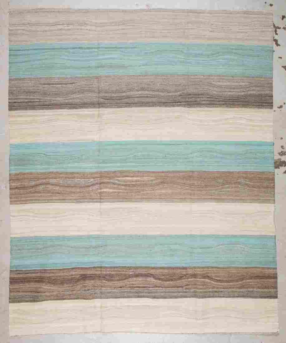 Modern Striped Kilim: 8'1'' x 9'11''