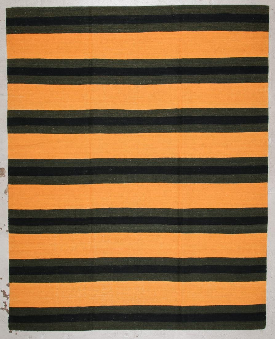 Modern Striped Kilim: 8' x 10'