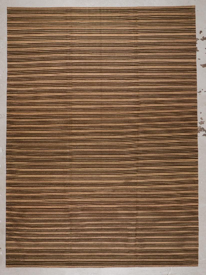 Modern Striped Kilim: 8'10'' x 12'2''