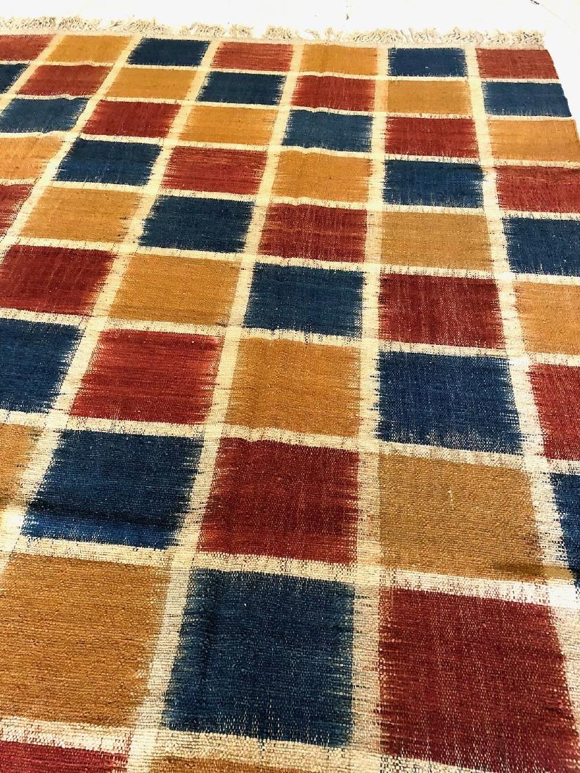 Nambu Natural Dye Ikat Kilim, Nepal: 8' x 9'2'' - 2