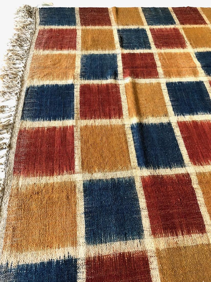 Nambu Natural Dye Ikat Kilim, Nepal: 8' x 9'2'' - 3