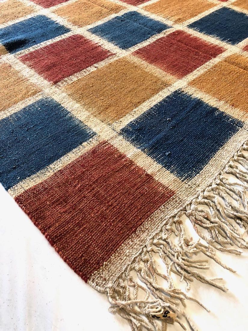 Nambu Natural Dye Ikat Kilim, Nepal: 8' x 9'2'' - 4