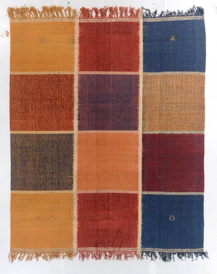 Nambu Natural Dye Ikat Kilim, Nepal: 8' x 9'6''