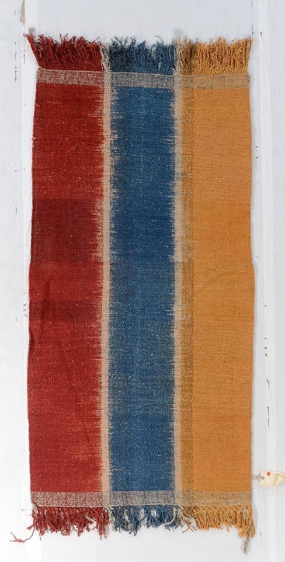 Nambu Natural Dye Ikat Kilim, Nepal: 3'6'' x 6'10''