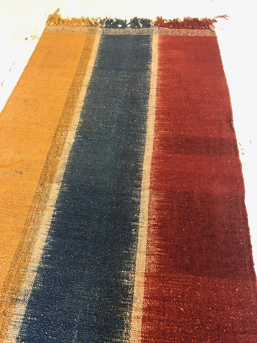 Nambu Natural Dye Ikat Kilim, Nepal: 3'6'' x 6'10'' - 2