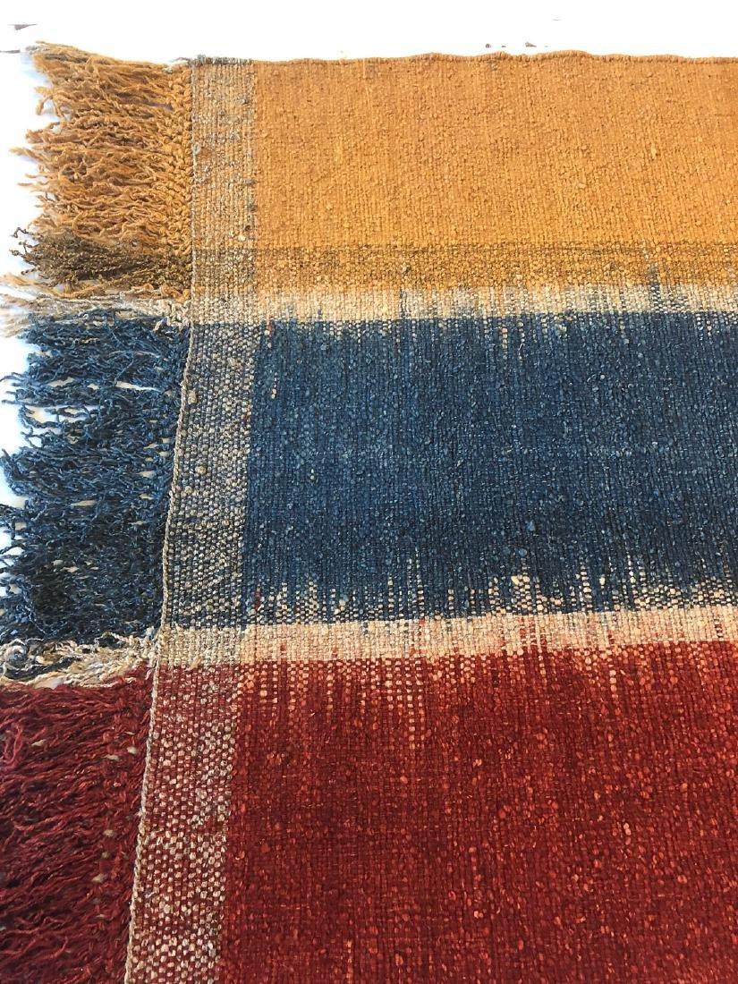 Nambu Natural Dye Ikat Kilim, Nepal: 3'6'' x 6'10'' - 3