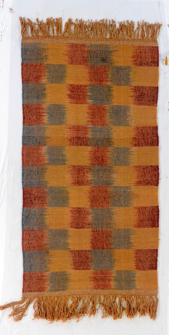 Nambu Natural Dye Ikat Kilim, Nepal: 3' x 6'