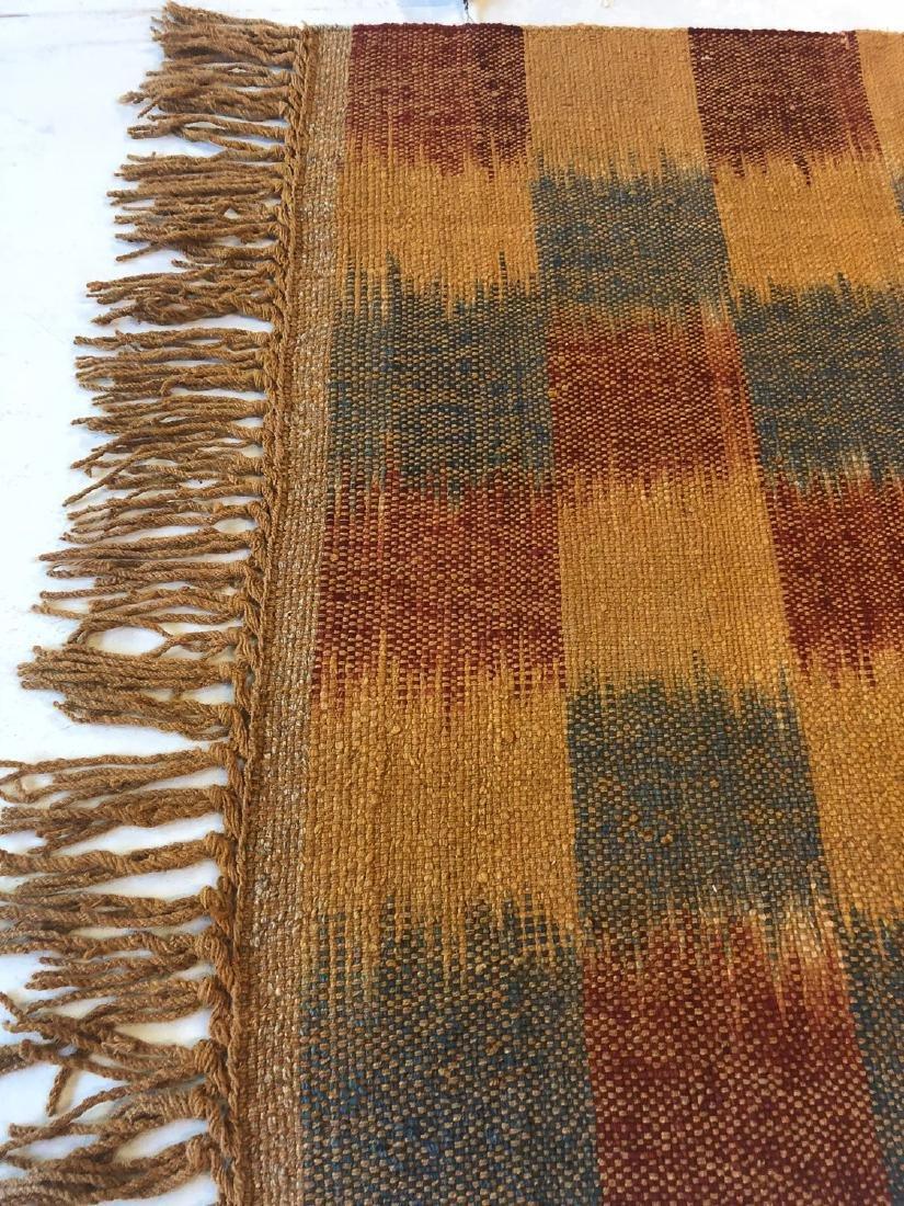 Nambu Natural Dye Ikat Kilim, Nepal: 3' x 6' - 3